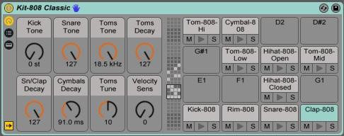 DrumRack Ableton TR-808