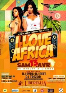 Soirée I love Africa à Paris le 13 avril 2013