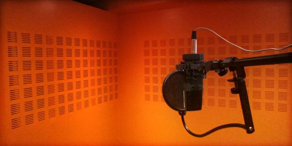 cabine audio pour prise de voix studio